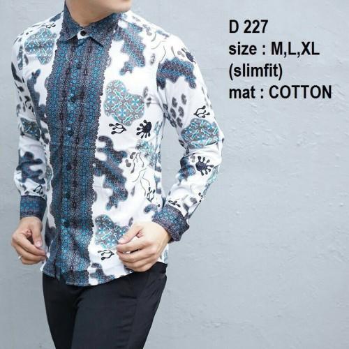 Foto Produk Baju Batik Pria Slim Fit Modern - Kemeja Batik Slimfit D227 dari Lina Batik Distro