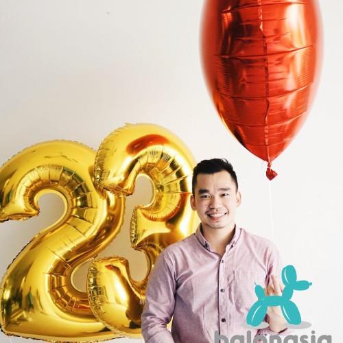 Foto Produk Balon Foil Angka Gold 100cm - 1 dari Balonasia