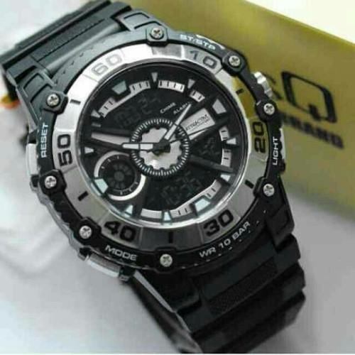 Jual Jam Tangan Q Q De10j Original Qq De 10 Sport Dual Time Black Silver Jakarta Timur Luckycasio Tokopedia