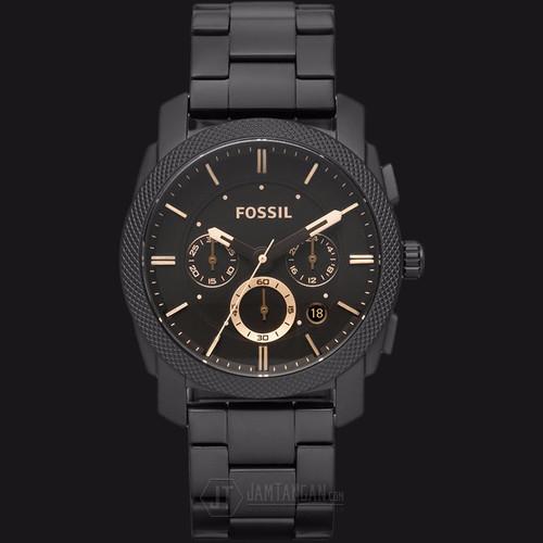 Foto Produk Fossil FS4682 Machine Chronograph Dark Brown Dial Black Stainles dari Watchpedia Indo