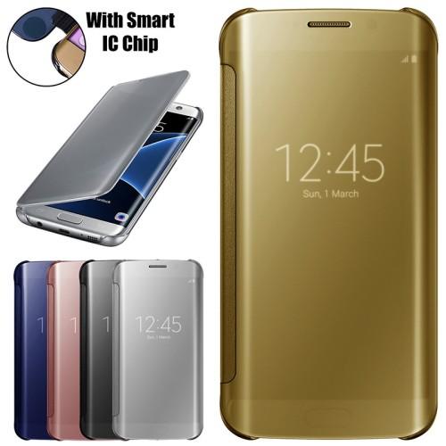 Foto Produk Mirror Cover Flip Case For Samsung S7 Edge/S7Edge Casing Autolock*LIKE dari BestACC Shop