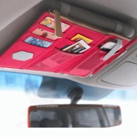 Foto Produk Visor Car Organizer tas dompet Tempat Kartu Pen Handphone Mobil bag - Hitam dari Gosirshop
