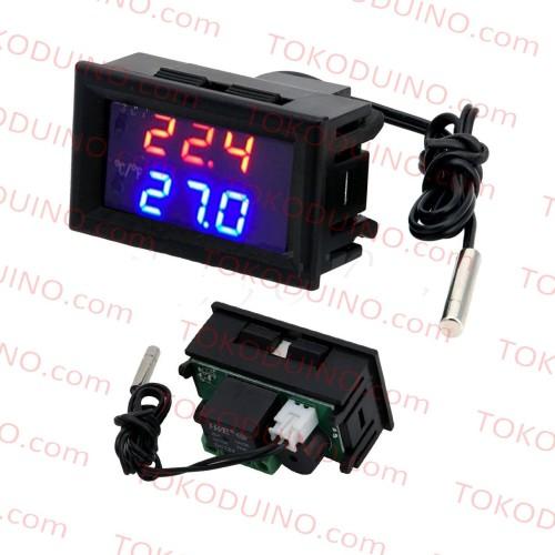 Foto Produk DIGITAL TEMPERATURE THERMOSTAT CONTROLLER RELAY W1209WK W1209 LED dari Tokoduino