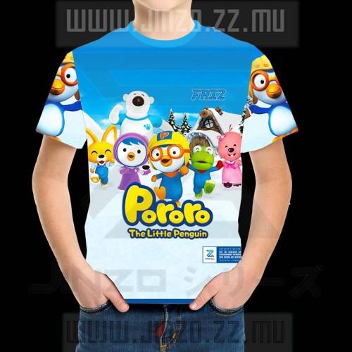 Foto Produk Kaos Anak Karakter Kartun Pororo 2 Dengan Nama Anak dari Jinzo Series