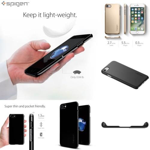 Foto Produk iPhone 7 Spigen Thin Fit Case casing cover bumper armor kesing keren dari Forsakey Gadget Acc