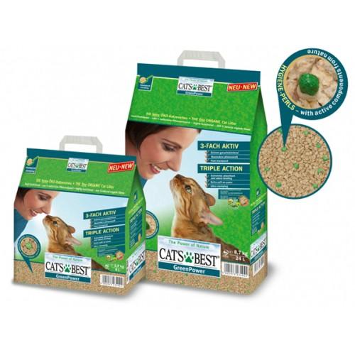 Foto Produk Cats Best Green Power 2.9kg Organic Cat Litter Kucing Bebas Kuman dari Hime petshop