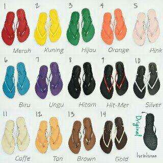 Foto Produk sendal jepit isrin isran >>rainbow - Hitam, 36 dari febry-shop