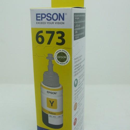 Foto Produk Tinta Printer Epson Original L800 L805 L850 L1800 T6734 Yellow 6734 dari Alkhalief Shop
