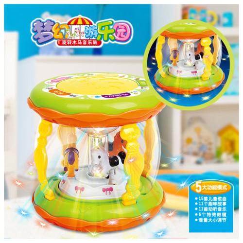 Foto Produk Mainan Bayi Wonderland Merry Go Round Music Drum Kecil dari Lucky 88 Toys
