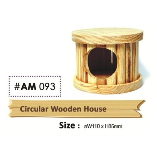 Foto Produk Wooden Circular House Rumah Kayu Tabung Hamster Gerbil dari Hime petshop