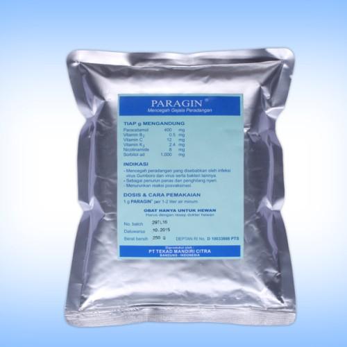 Foto Produk obat hewan PARAGIN 250 gram mencegah gejala peradangan pada unggas dari vetma pet and poultry