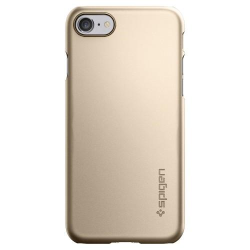 Foto Produk Spigen iPhone 7 Case Thin Fit Casing Cover Original - Champagne Gold dari Gadkey Official