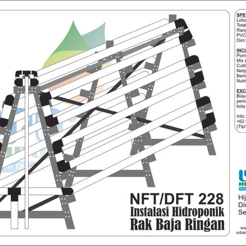 Foto Produk Rak Hidroponik NFT 6 Tingkat 228 Lobang dari Urban Hidroponik