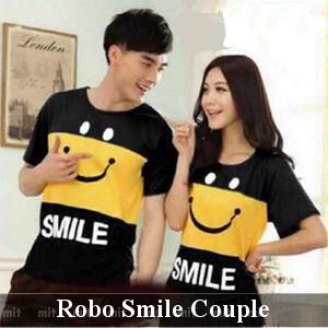 Foto Produk Kaos Couple   Baju Couple   Baju Pasangan   Kaos Import   Kaos Smile dari koleksi baju couple