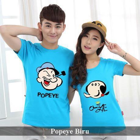 Foto Produk Kaos Couple   Baju Couple   Baju Pasangan   Kaos Popeye   Kaos Lucu dari koleksi baju couple