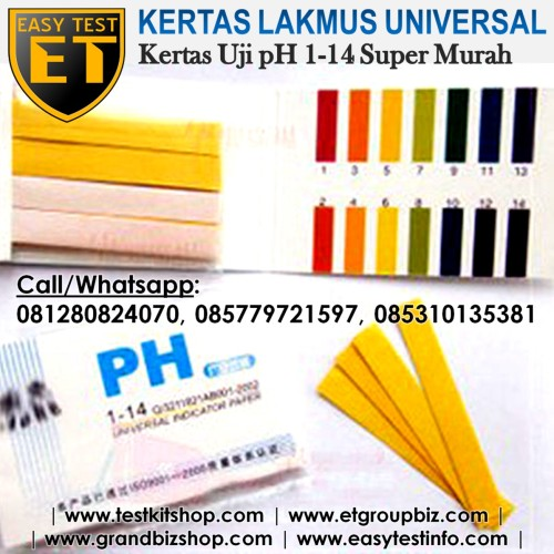 Foto Produk Kertas Lakmus pH Universal (range pH 1-14) Murah Abis dari easytest