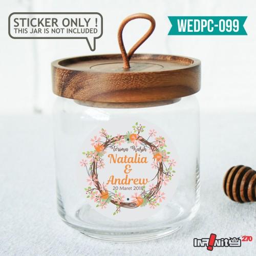 Foto Produk label sticker souvenir pernikahan wedding kebaya pengantin WEDPC099 dari Infinity270