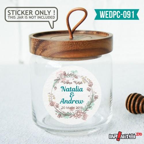 Foto Produk label sticker souvenir pernikahan wedding kebaya pengantin WEDPC091 dari Infinity270