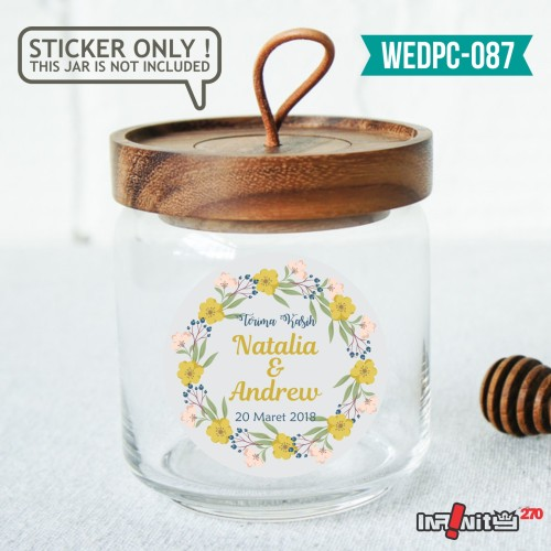 Foto Produk label sticker souvenir pernikahan wedding kebaya pengantin WEDPC087 dari Infinity270