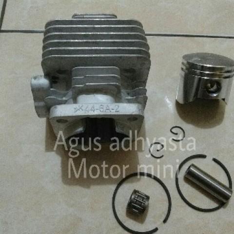 Foto Produk Blok piston seher zk 44 pocket bike motor mini gp trail mini atv mini dari Agus adhyasta motor mini