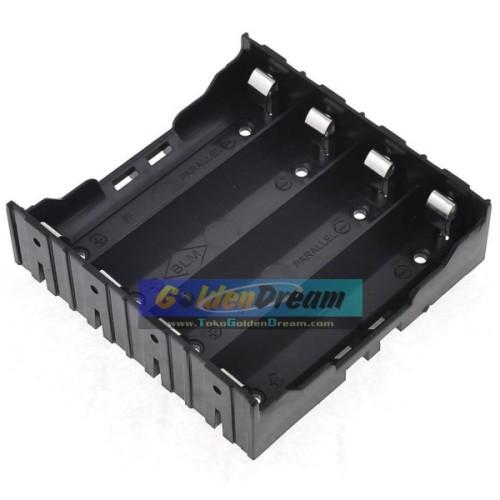 Foto Produk Paralel 4x 18650 Battery Holder Plat Lempengan Kotak Baterai Batere dari VISITEK