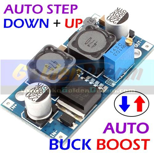 Foto Produk Auto Buck Boost Step Down + Up XL6009 Adjustable Converter Solar Aki dari VISITEK