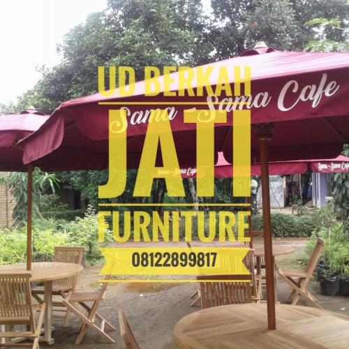 Foto Produk Set Parasol Payung Taman Rumah Kafe Hotel Cafe Vila Restouran dari UD.Berkah Jati Furniture