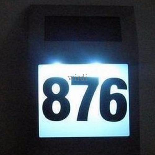 Foto Produk Lampu nomor / nomer / no rumah 2 LED RUKO RUKAN KANTOR solar power dari wirdi