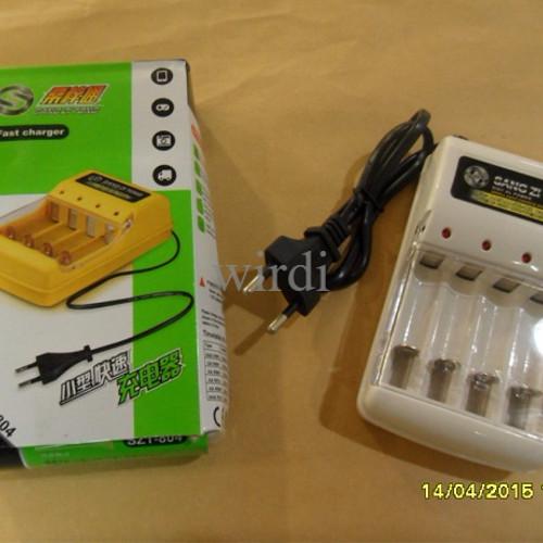 Foto Produk Charger rechargeable 4 in 1 cas pengecas baterai AA/AAA/NI-CD/NI-MH dari wirdi