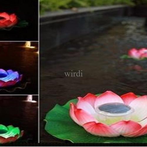 Foto Produk Lampu Apung air Bunga LOTUS solar power untuk Kolam ikan kolam renang dari wirdi