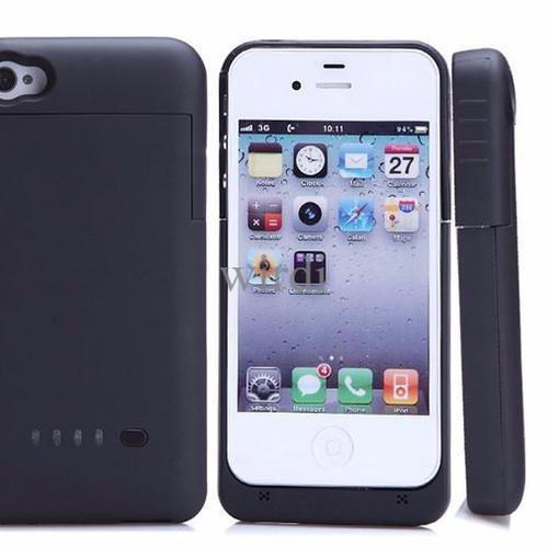 Foto Produk Hardcase slim Iphone 4 / 4s internal baterai 1900 mAh 16GB/32GB/64G dari wirdi
