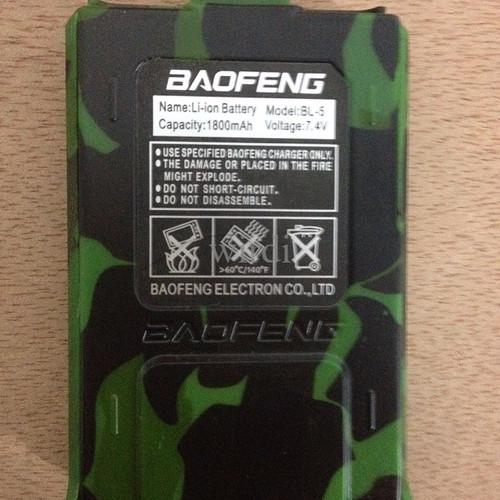 Foto Produk Baterai cadangan model ori kapasitas 1800 mAh Loreng HT BAOFENG UV-5R dari wirdi