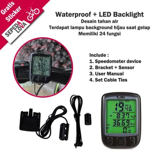 Foto Produk Speedometer Sepeda Digital 24 Fungsi Waterproof Backlight SunDing dari SepedaLova