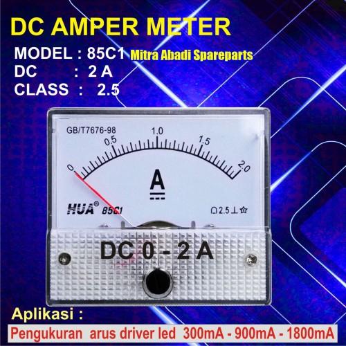 Foto Produk Amperemeter Analog DC 2A / 2 Ampere / 2000 mA dari Mitra Abadi Spareparts