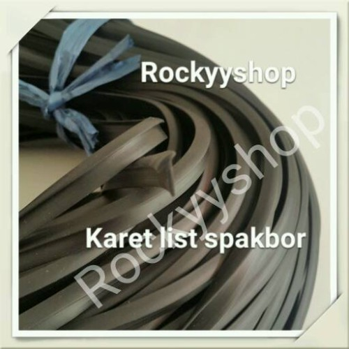 Foto Produk karet List untuk body kit dan spakbor warna Hitam.(HITAM) dari Rockyyshop