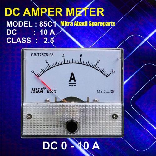 Foto Produk Amperemeter Analog DC 10A / 10 Ampere / 10000 mA dari Mitra Abadi Spareparts