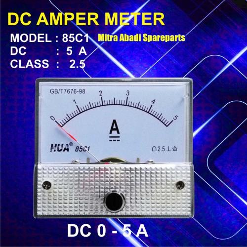 Foto Produk Amperemeter Analog DC 5A / 5 Ampere / 5000 mA dari Mitra Abadi Spareparts