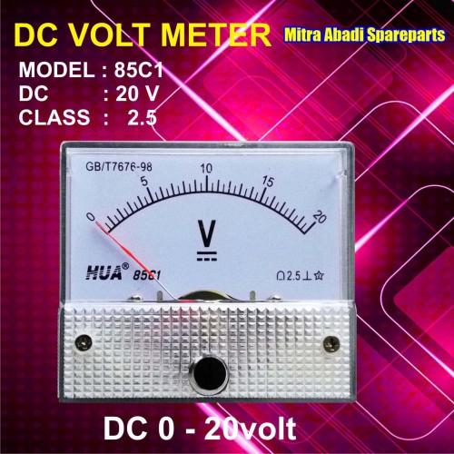 Foto Produk Voltmeter DC Analog 0V-20V / 0-20 Volt dari Mitra Abadi Spareparts