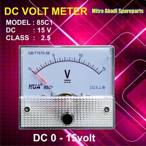 Foto Produk Voltmeter DC Analog 0V-15V / 0-15 Volt dari Mitra Abadi Spareparts