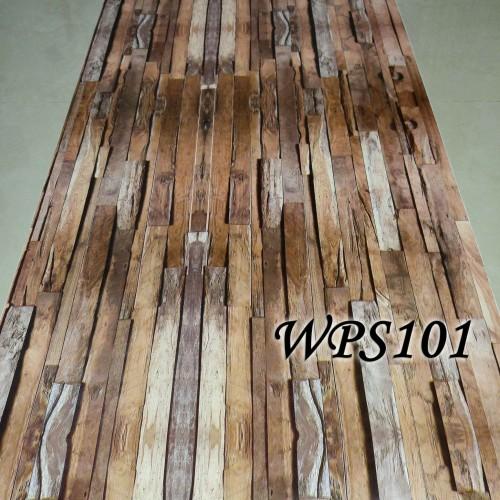 Foto Produk WALLPAPER STICKER 45CMX5M- WPS101-WOOD PANEL dari radja dinding