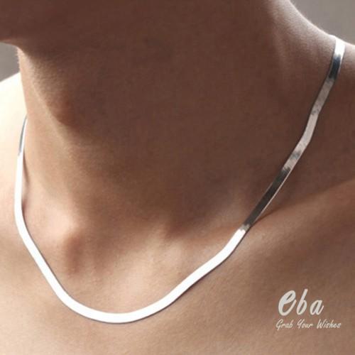 Foto Produk Kalung (C108) Simple Snake Flat Chains dari Eba Grab Your Wishes