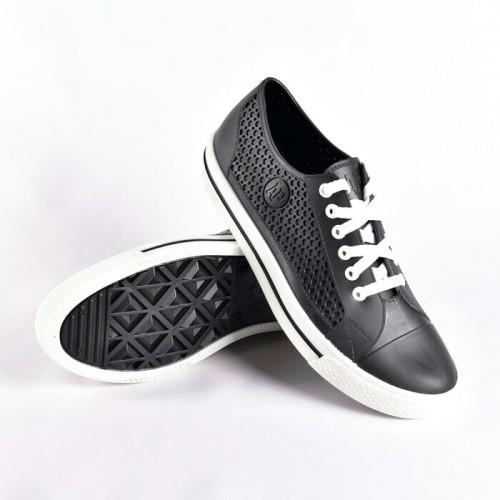 Foto Produk Sepatu ApStar AP Star By Ap Boots Karet PVC Casual Sneakers Sekolah - Hitam Putih, 38 dari lbagstore
