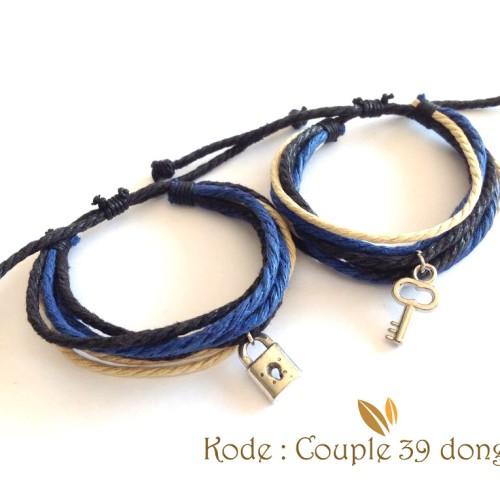 Foto Produk Gelang Couple Gelang Pasangan Gembok dan Kunci Couple 39 dari Passion