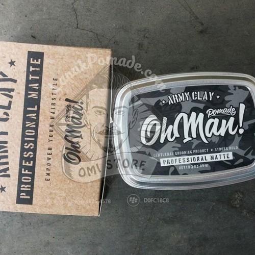 Foto Produk Ohman Clay (Ohman Pomade Army Clay) dari OmiStore