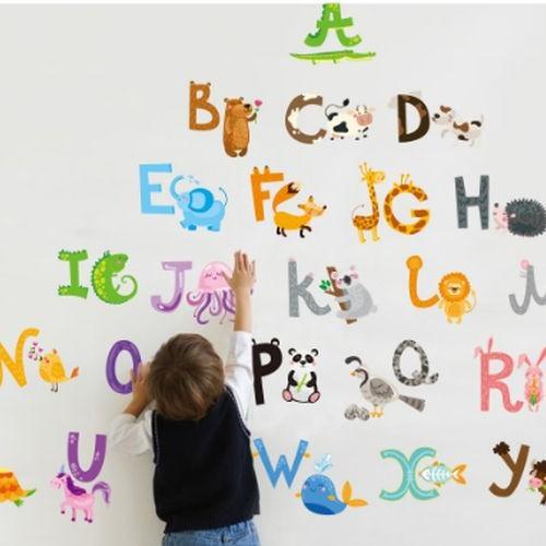 Foto Produk Animal Alphabet II ABC1058 - Stiker Dinding / Wall Sticker dari farisha shop