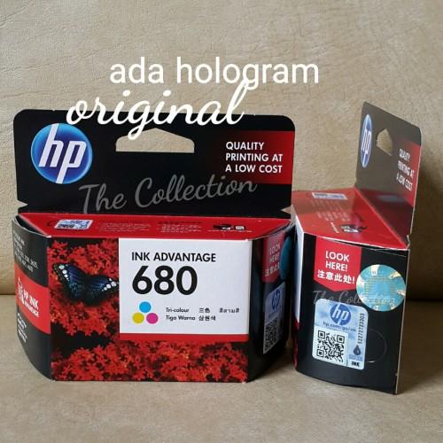 Foto Produk SEALED COLOR Tinta HP 680 Printer Original Ink Deskjet 111 2135 3635 dari Toko Online Jempol