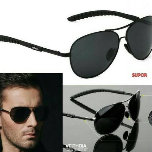 Foto Produk Kacamata Aviator ORIGINAL Polarized kaca mata hitam Polaroid anti UV dari SUPOR