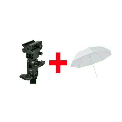 "Foto Produk paket Payung putih 33"" + Flash holder dari zona camera"