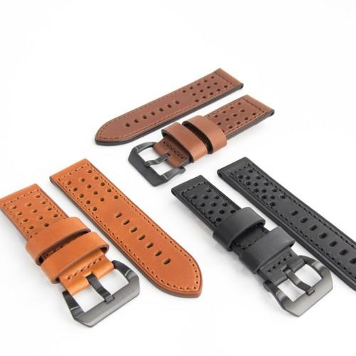 Foto Produk Tali Kulit Jam Tangan (Motif Bolong-Bolong) 22MM, 24MM, 26MM dari Gudang Batere dan strap