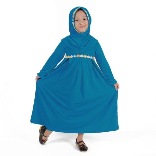 Foto Produk Baju Muslim Anak Perempuan Warna Biru Muda Lucu dari Grone